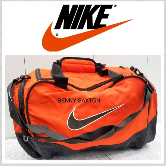 Nike Bags   Brand New Gymtravel Duffel Bag Orangeblack   Poshmark f5fde1c7e3